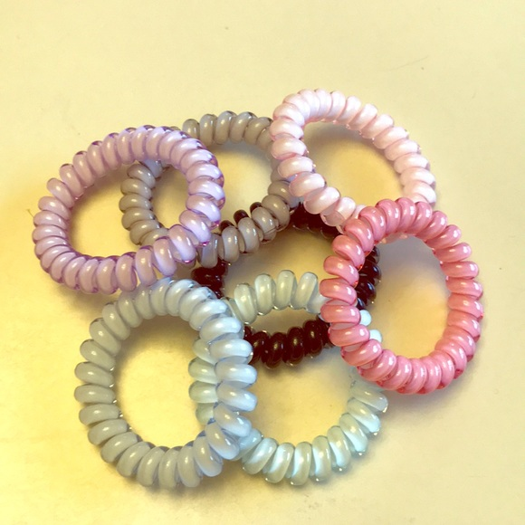 Telephone wire scrunchie pastel hair ties 0f92db3dfab